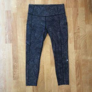 Lululemon Fast and Free legging black/grey size 10